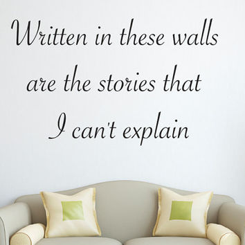 One direction 1D Wall Decal Quote - The Story of my Life Song Lyrics - Wall Decor - Wall Decals Lettering - Vinyl Wall Decal