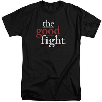 The Good Fight Tall T-Shirt Logo Black Tee