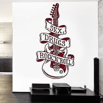 Wall Decal Music Sexy Drugs Rock`n`Roll Vinyl Sticker (z3589)