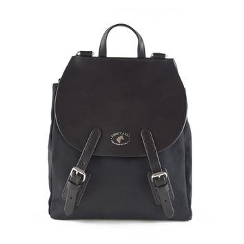 Equus Canvas Leather Backpack | Black
