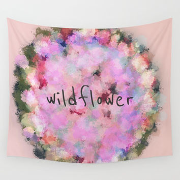 Wildflower Wall Tapestry by sm0w