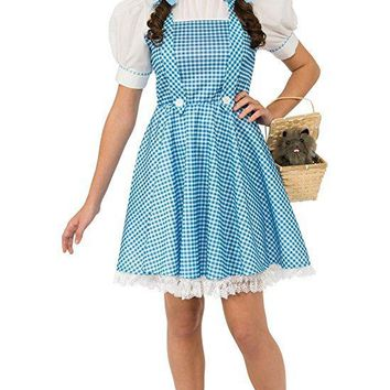 Rubies Costume Womens Wizard Of Oz Adult Dorothy Dress and Hair Bows