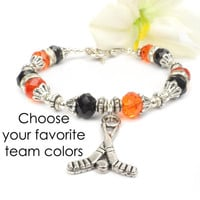Hockey Mom Bracelet, Hockey Fan Jewelry