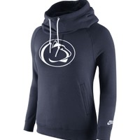 Nike Women's Penn State Nittany Lions Blue Rewind Rally Funnel Hoodie - Dick's Sporting Goods