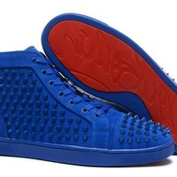 DCCK2 christian louboutin all blue and all black