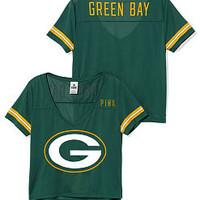 Green Bay Packers Cropped V-Neck Athletic Jersey - PINK - Victoria's Secret