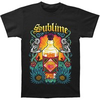 Sublime Men's  Sun Bottle Mens Soft T Slim Fit T-shirt Black