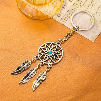 Fashion Dream Catcher Tone Key Chain Silver Keychain