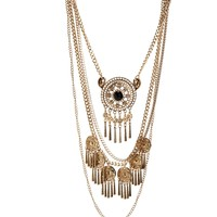 Gold Free Spirit Necklace Set
