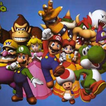 Super Mario Video Game Cast Poster 24x36