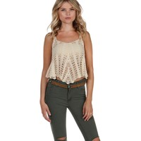 Sale- Natural Bayshore Crochet Top