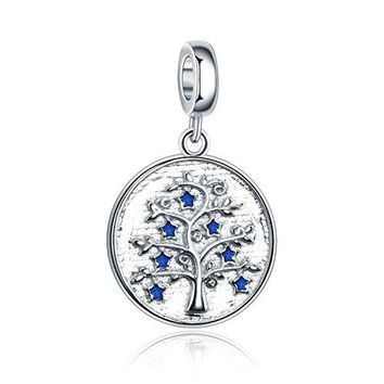 Amatolove Jewelry Mothers Day Gifts Jewelry Family Tree of Life 925 Sterling Silver Charms Lucky Penny for Bracelets