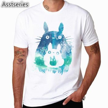 Print Spirited away Japanese Anime T-shirt Unisex Short sleeve O-Neck Howl's Moving Castle Casual Miyazaki Hayao Totoro T shirt