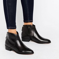 Dune Pearcey Back Zip Low Boots at asos.com
