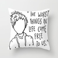 Ed Sheeran A Team Lyrics and Cartoon Throw Pillow by Xjen94