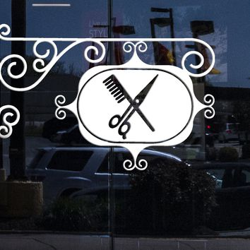 Window Vinyl Decal Wall Stickers Hair Beauty Salon Spa Barbershop Decor Unique Gift (z2279w)