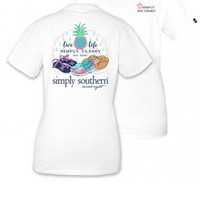 "Simply Southern ""Simply Classy"" Tee - White"