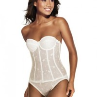 Plus Size Lingerie | Plus Size Corsets & Bustiers | Embroidered Lace Bustier | Hips & Curves