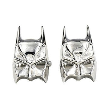 DC Comics, Silver Tone Batman Mask Cufflinks