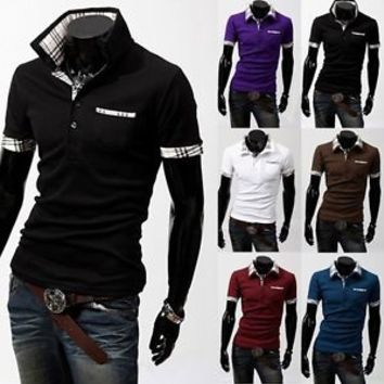 Jeansian Mens T-Shirts Top Tee POLO Slim Fit Dress Casual 6 Colors 4 Sizes 8402
