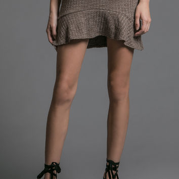 Mocha Knit Mini Skirt