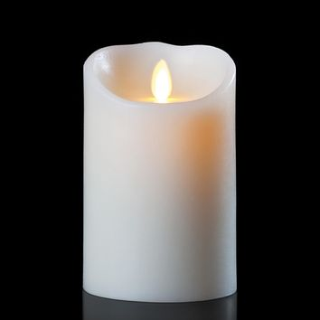 "5.5"" Ivory Luminara B/O Flickering Flameless Vanilla Scented Pillar Candle"