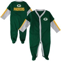 Green Bay Packers Newborn Long Sleeve Jersey Coverall - Green