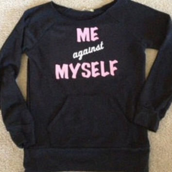 Me against Myself Eco Fleece Sweatshirt