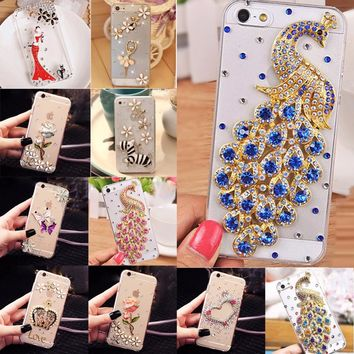 Soft Edge Acrylic mobile phone shell Bling Diamond Luxury Glitter Case For Galaxy J5 Prime /ON5 2016 Case Cover