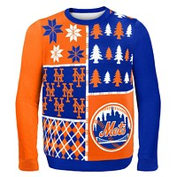 New York Mets - Busy Block Ugly Christmas Sweater