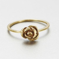 verameat | rose ring in brass