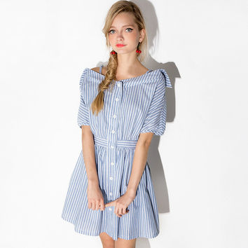 Plus SIze Collar Shirt Dress