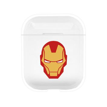 Iron Man Protective Tpu Apple Airpod Case - Clear