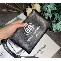 Balenciaga Classic Stylish Women Shopping Bag Leather Zipper Handbag Bag Wrist Bag