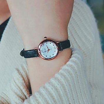 Fashion Women's Watch Quartz Analog Wrist Small Dial Delicate Watch Luxury Business Watches Vintage Bracelet Relogio Feminino#50