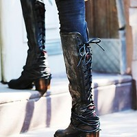 Freebird by Steven Womens Coal Tall Boot