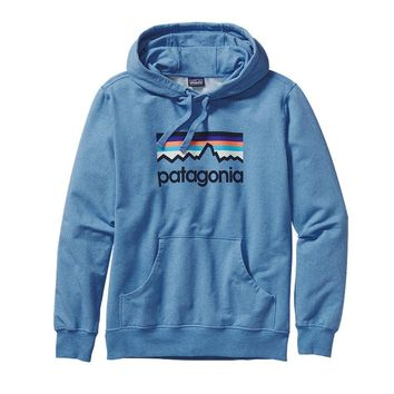 Patagonia Men's Line Logo Midweight Pullover Hoody | Andes Blue