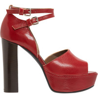 Marni Double Ankle Strap Platform Sandal at Barneys.com