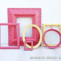 Watermelon & Lemon Collection - Wall Gallery - Upcycled Set Of 6