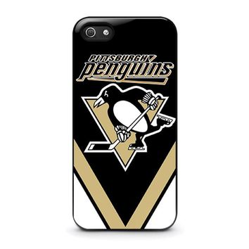 pittsburgh penguins iphone 5 5s se case cover  number 1