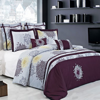 Fifi 100 Cotton Embroidered Multi Piece Duvet Cover set
