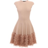 Tonal Lace Knit Ruffle Dress Alexander McQueen | Mini Dress | Dresses |