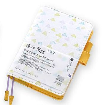 The watercolor fashion journal A6 notebook yearly plan+monthly plan+daily plan+squared sheets+dots+lined sheets gift