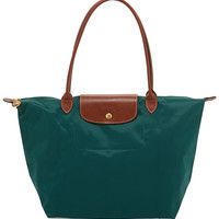 Le Pliage Large Shoulder Tote Bag, Cedar - Longchamp