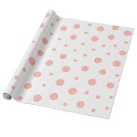 Elegant polka dots - Soft Pink Gold White Wrapping Paper