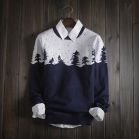 Men's Tree Fair Isle Knitwear Sweater