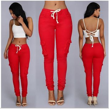 Womens Stylish Stretch Cargo Pants