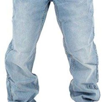 Rocawear Mens Boys Double R Star Loose Fit Hip Hop Jeans Is Money G Time SWB (W42 - L34)