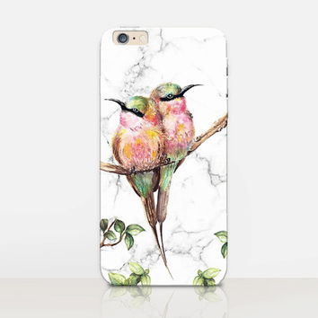 Hummingbirds Marble Phone Case  - iPhone 6 Case - iPhone 5 Case - iPhone 4 Case - Samsung S4 Case - iPhone 5C - Tough Case - Matte Case