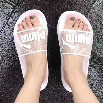 Puma Women Jelly Transparent Slippers Shoes Crystal Sandals
